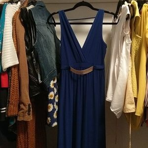 Blue Maxi Formal Dress